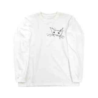fDESIGNのfm_07b_ねこ Long sleeve T-shirts