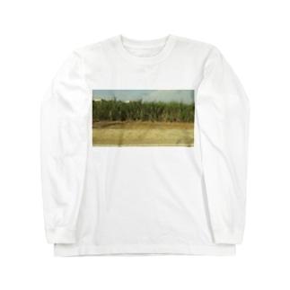 さとうきび畑 Long sleeve T-shirts