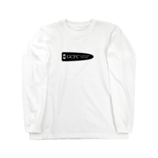 GCFC黒プリント大 Long sleeve T-shirts