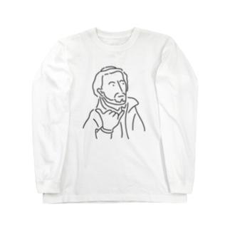 ザビエル ハワイへ イラスト 偉人 歴史 Long sleeve T-shirts