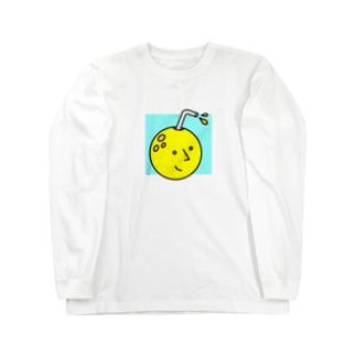 お月さんジュース Long sleeve T-shirts