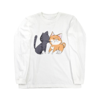 しばねこネコパンチ Long sleeve T-shirts