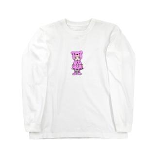 Suzuki Satomi イラストショップのベアミちゃん Long sleeve T-shirts