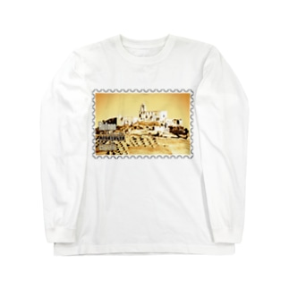 FUCHSGOLDのスペイン:アンダルシアの廃墟★白地の製品だけご利用ください!! Spain: Ruins in Andalucia★Recommend for white base products only !! Long sleeve T-shirts