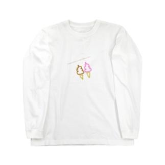 unko mitaina sofutokuri-mu Long sleeve T-shirts