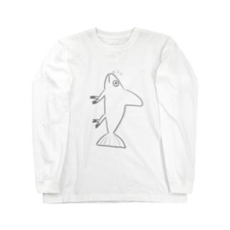 ニセエボシカメレオンダマシ#2 カメレオンフィッシュ(縦) Long sleeve T-shirts