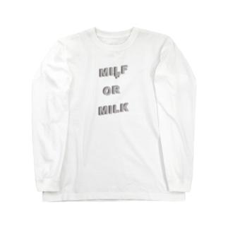 MILF OR MILK Long sleeve T-shirts