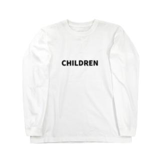 にじマンのCHILDREN(黒文字) Long sleeve T-shirts