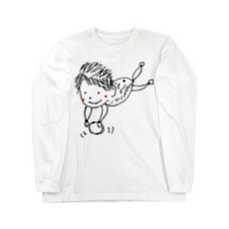 sakura-filmsの玉乗りぽやぽやん Long sleeve T-shirts