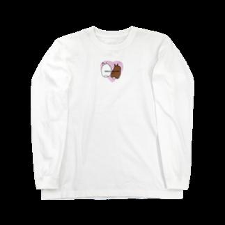 ぷぐのシェリーとピノのケツ ピンクver. Long sleeve T-shirts