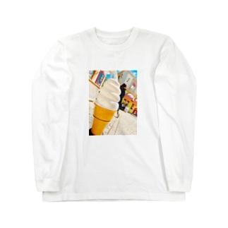 アイスクリーム Long sleeve T-shirts