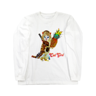 Rock catのCAT GIRL パイナップル Long sleeve T-shirts