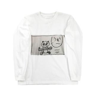 パンダちゃん走る! Long sleeve T-shirts
