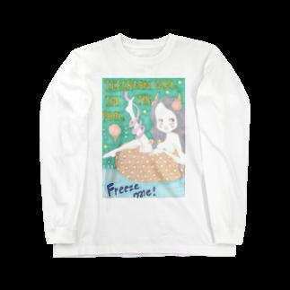 kaoru_littieのIce cream girl in the pool            Long sleeve T-shirts