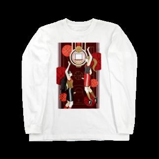 ねことりむし★CAT BIRD INSECTのBasketball girls(remake) Long sleeve T-shirts