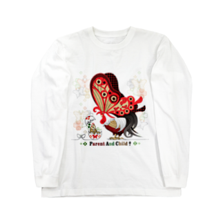 ねことりむし★CAT BIRD INSECTのPARENT AND CHILD?(remake) Long sleeve T-shirts