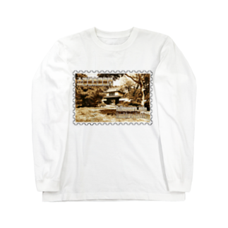 FUCHSGOLDの日本の城:土浦城★白地の製品だけご利用ください!! Japanese castle: Tsuchiura castle★Recommend for white base products only !! Long sleeve T-shirts