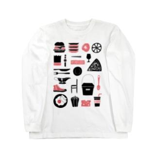 POTLUCK Graffiti Pink Long sleeve T-shirts