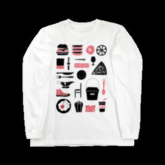 POTLUCK(ポットラック)のPOTLUCK Graffiti Pink Long sleeve T-shirts