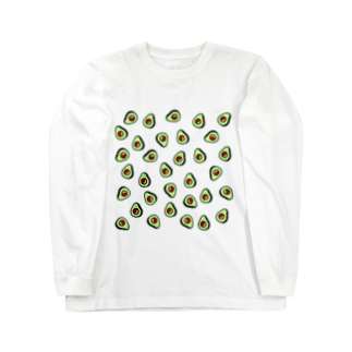 JapaneseRubberStampsのアボカドット Long sleeve T-shirts