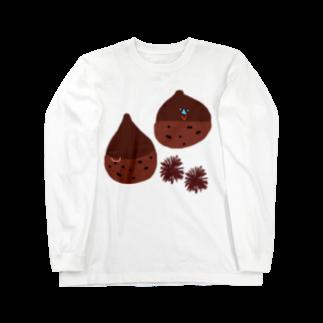 ちえのいがぐりっ栗 Long sleeve T-shirts