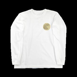 pochette design studioの満月イラスト Long sleeve T-shirts