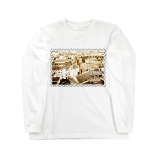 FUCHSGOLDのスペイン:グラナダ旧市街の夕景★白地の製品だけご利用ください!! Spain: Old area of Granada★Recommend for white base products only !! Long sleeve T-shirts