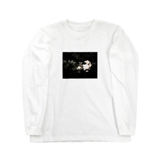 cozcozの夜桜 Long sleeve T-shirts