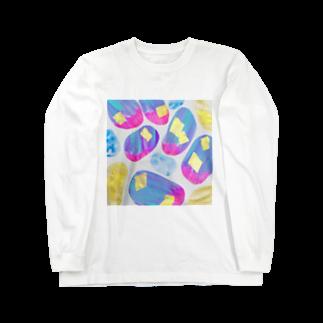 しがないななしSHOPの光の川辺 Long sleeve T-shirts