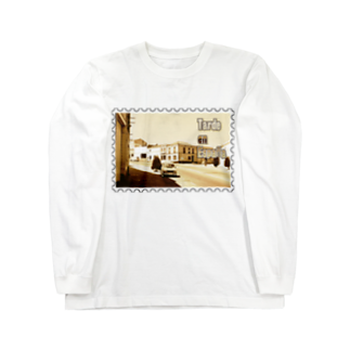 FUCHSGOLDのスペイン:村の昼下がり★白地の製品だけご利用ください!! Spain: Afternoon of village★Recommend for white base products only !! Long sleeve T-shirts