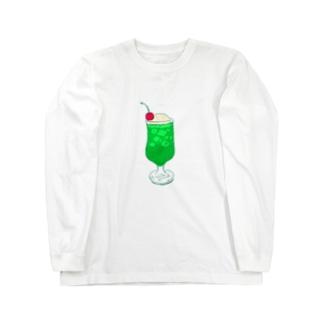 NIKORASU GOのメロンクリームソーダ@文字なし Long sleeve T-shirts