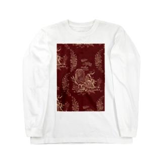 J. Jeffery Print Galleryのトワルドジュイ Toile de Jouy Long sleeve T-shirts