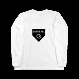 すぎ屋のベースボール Long sleeve T-shirts