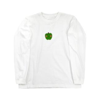 頑張れピーマン之助 Long sleeve T-shirts