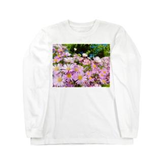 DOLUXCHIC RAYLOのPink flowers  Long sleeve T-shirts