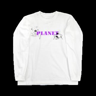 Motonishiのplanet Long sleeve T-shirts