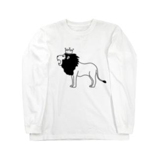 Aliviostaのライオンキング 動物イラスト Long sleeve T-shirts