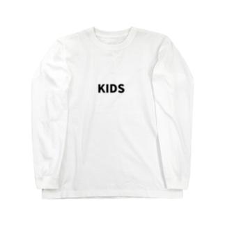 にじマンのKIDS(黒文字) Long sleeve T-shirts