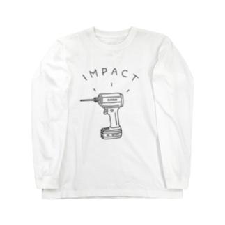 AliviostaのDIYインパクトドライバー 電動工具イラスト 大工 Long sleeve T-shirts