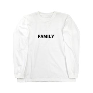 にじマンのFAMILY(黒文字) Long sleeve T-shirts
