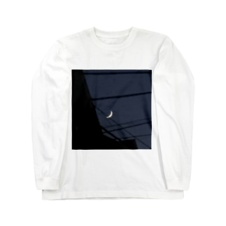 ザラザラの月 Long sleeve T-shirts