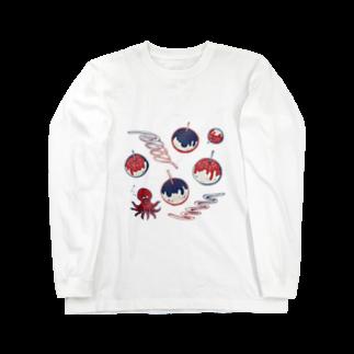 akaneyabushitaの【日本レトロ#20】たこ焼き Long sleeve T-shirts
