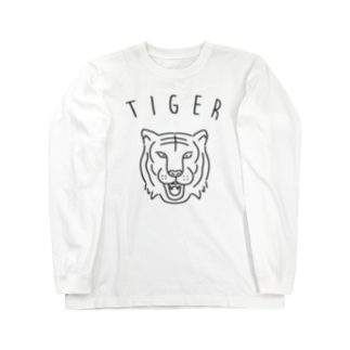 Aliviostaのタイガー 虎 動物イラスト Long sleeve T-shirts