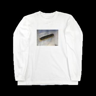 hayatexのEDCで失くしたハーモニカの遺影 Long sleeve T-shirts