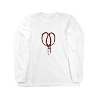 植木職人専用デザイン「植木屋鋏」 Long sleeve T-shirts