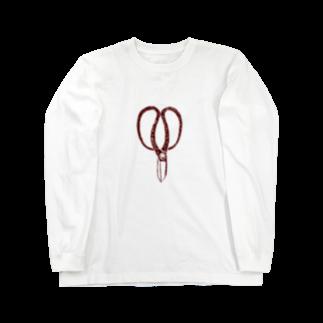 NIKORASU GOの植木職人専用デザイン「植木屋鋏」 Long sleeve T-shirts