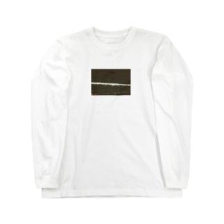 Shogo Hirokiの夜の電車 Long sleeve T-shirts