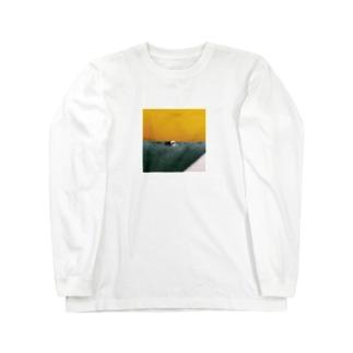 Shogo Hirokiの黄色い壁 Long sleeve T-shirts
