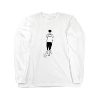 Move ヒトとネコ イラスト Long sleeve T-shirts