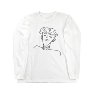 違いがわかる男 Long sleeve T-shirts